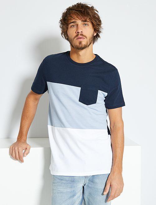 T-shirt colorblock                                                                 BLU