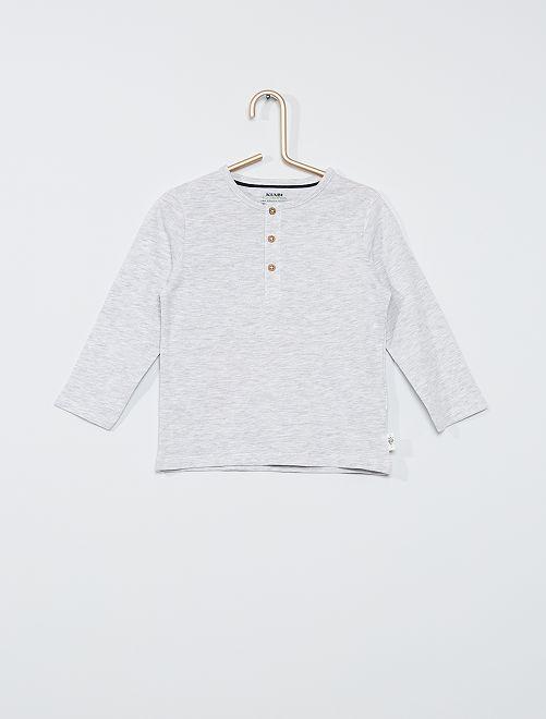 T-shirt con collo serafino eco-sostenibile                                                     GRIGIO
