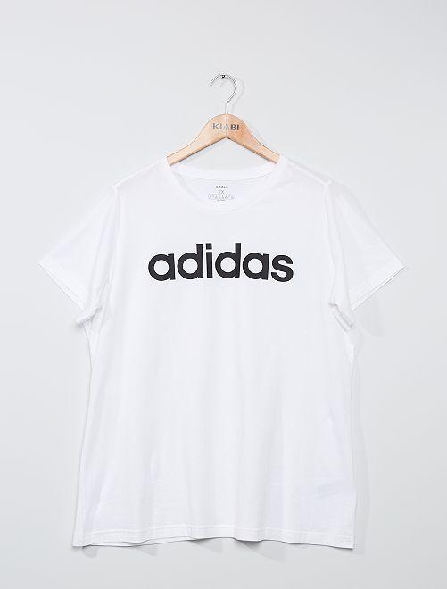 T-shirt con logo 'adidas'                             BIANCO