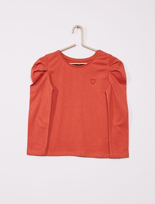 T-shirt con maniche a palloncino                                                                                 ARANCIONE