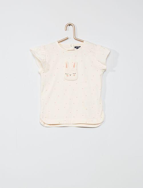 T-shirt con patch 'coniglio'                             ROSA