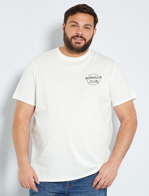 T-shirt con scritta eco-sostenibile                                                     BIANCO