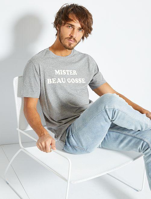 T-shirt con stampa 'eco-concept'                                                                                                                                                                 GRIGIO