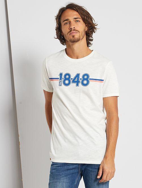 T-shirt con stampa eco-friendly                                                                                                                                         BIANCO