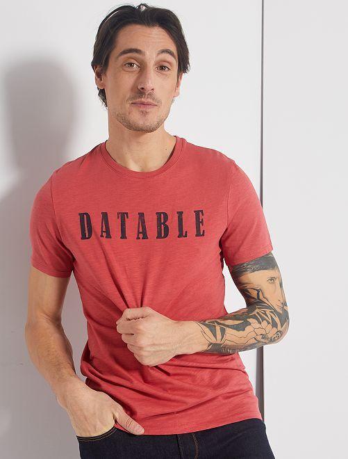 T-shirt con stampa eco-friendly                                                                                                                                                     ROSA