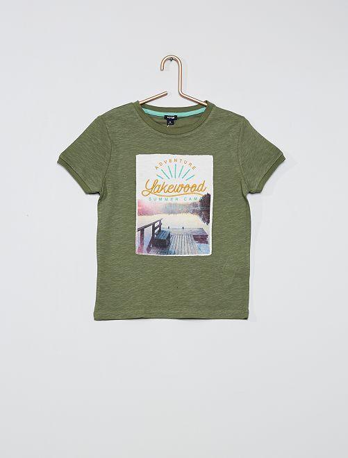 T-shirt con stampa foto                                         VERDE