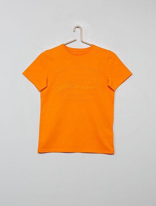 T-shirt con stampa in rilievo                                                                 arancio