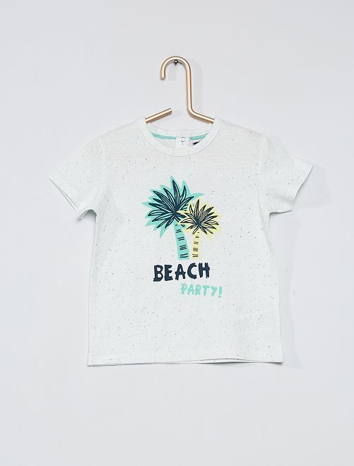 T-shirt con stampa 'palme'                             BIANCO