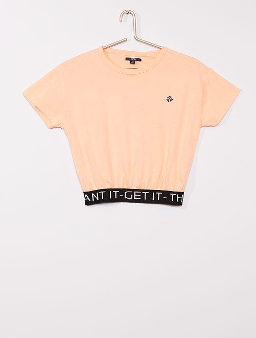T-shirt corta sportiva                                                     NERO