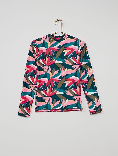 T-shirt da surf anti UV                             VERDE