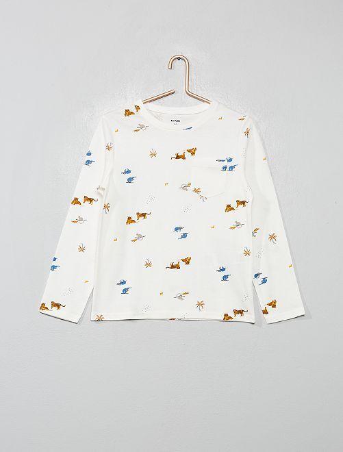 T-shirt del pigiama animali                                         BIANCO