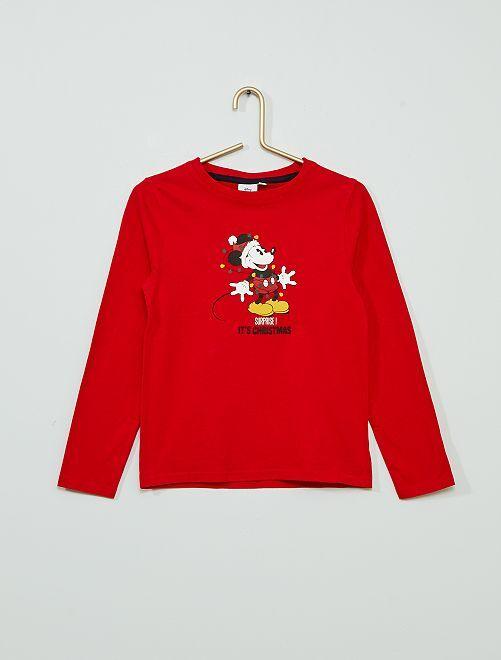 T-shirt di Natale 'Topolino'                             ROSSO
