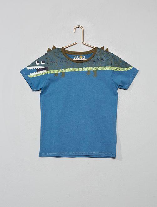 T-shirt 'dinosauro'                                         BLU