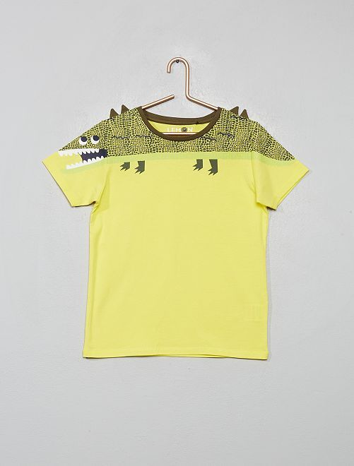 T-shirt 'dinosauro'                                         GIALLO