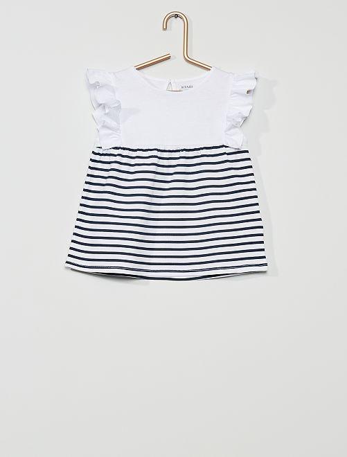 T-shirt 'eco-concept'                                                                                                                                         a righe blu