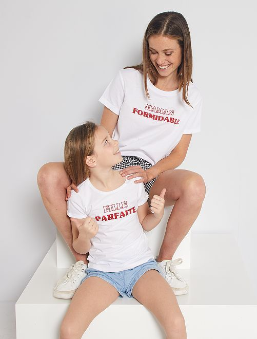 T-shirt 'eco-friendly' stampa cuore                                                         BIANCO