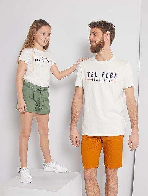T-shirt 'eco-friendly' stampata                                                                             BIANCO