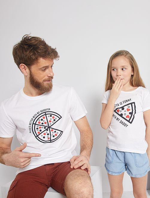 T-shirt 'eco-friendly' stampata                                                                             BIANCO