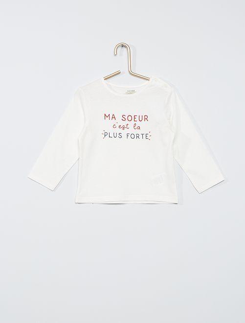 T-shirt eco-sostenibile                                                                                                                                                                             BIANCO