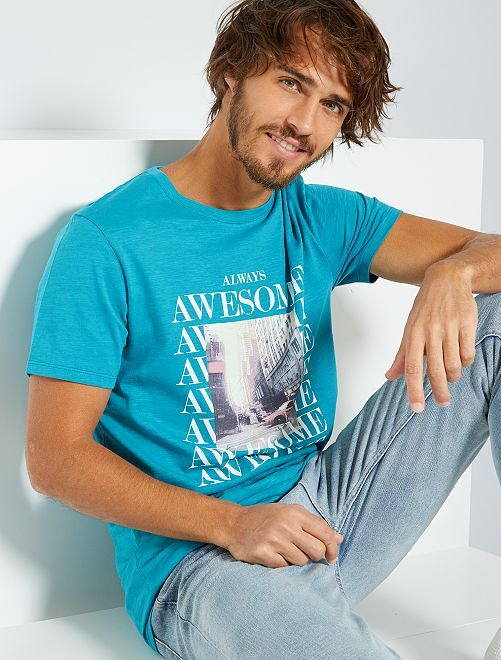 T-shirt eco-sostenibile                                                                                         BLU