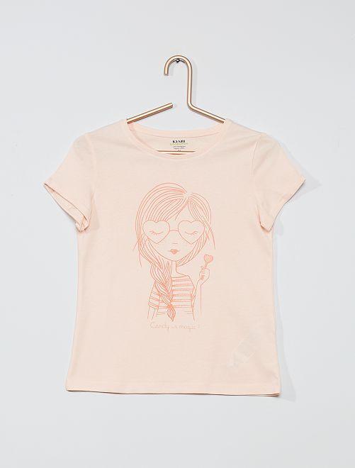 T-shirt eco-sostenibile 'palme'                                                         ROSA