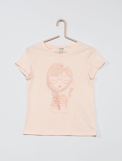 T-shirt eco-sostenibile 'love'                                                                                 ROSA