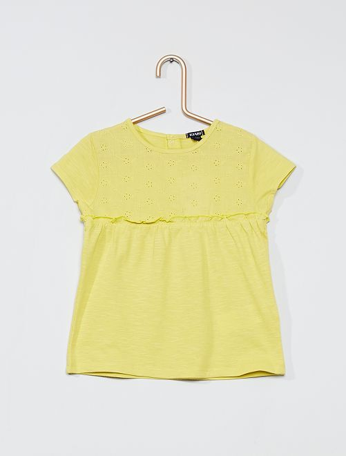 T-shirt 'eco-sostenibile'                                                     GIALLO