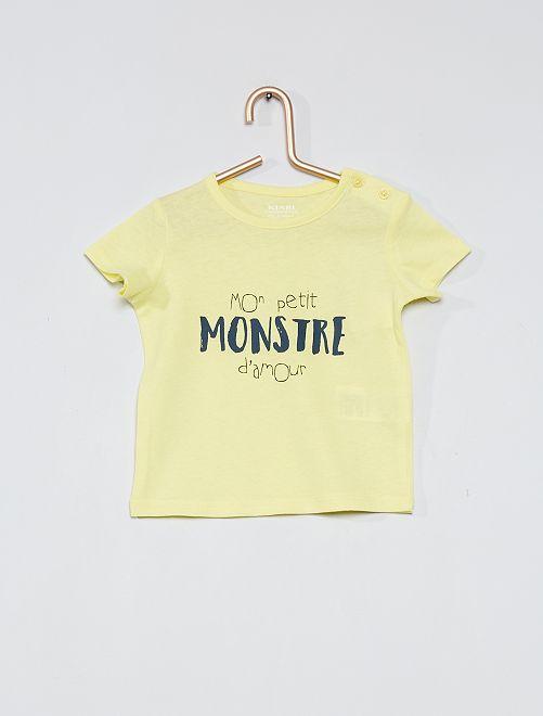 T-shirt 'eco-sostenibile'                                                                 GIALLO