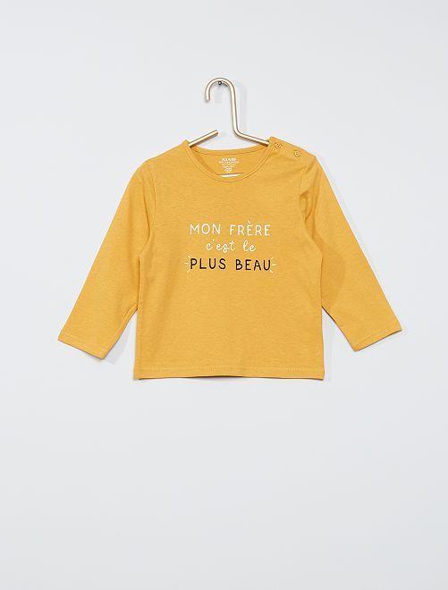 T-shirt eco-sostenibile                                                                                                                                                                             GIALLO