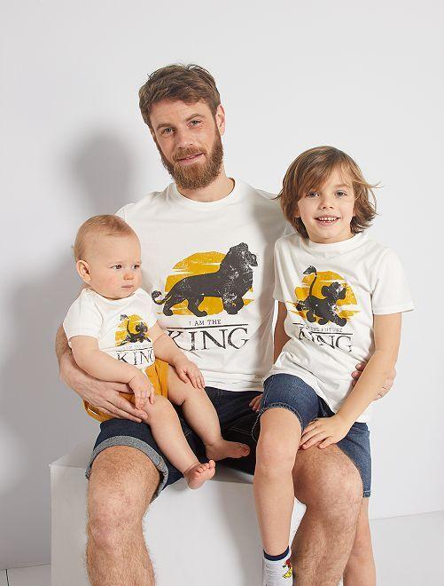 T-shirt eco-sostenibile 'Il Re Leone'                             BIANCO