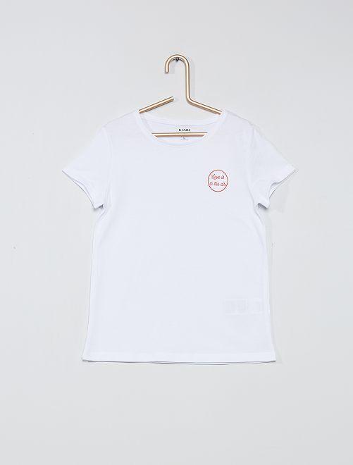T-shirt eco-sostenibile 'gattino'                     BIANCO