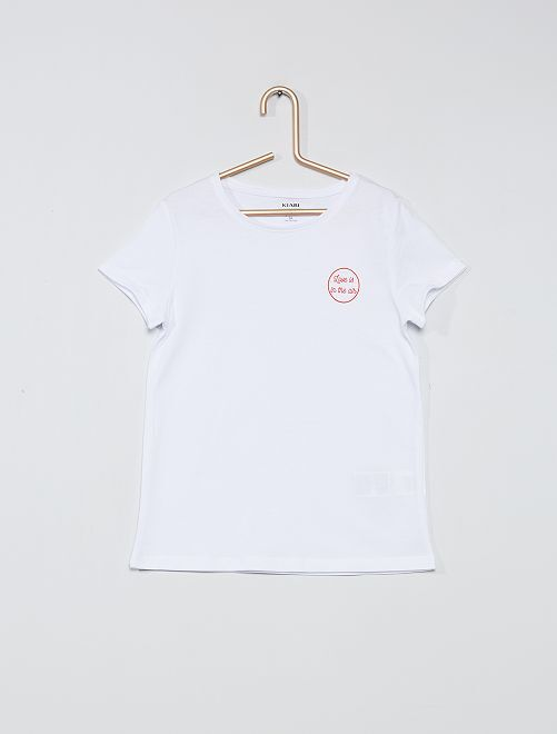 T-shirt eco-sostenibile 'love'                                                                 BIANCO