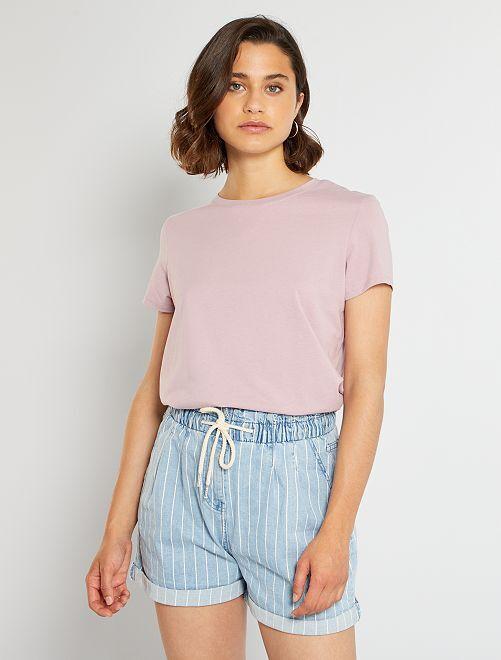 T-shirt eco-sostenibile                                                                                                                                         rosa antico