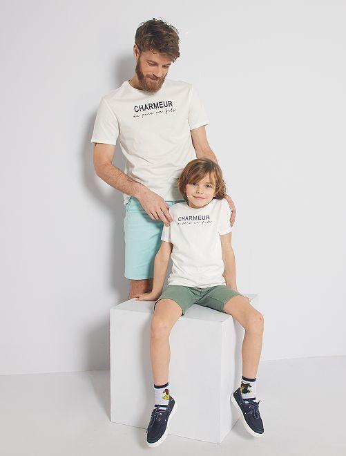 T-shirt eco-sostenibile 'Seduttore'                                         BIANCO