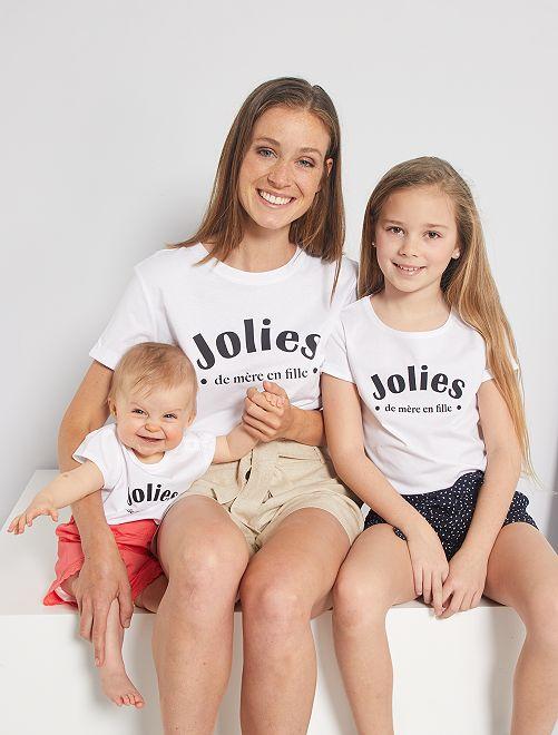 T-shirt 'eco-sostenibile' stampa cuore                                         BIANCO