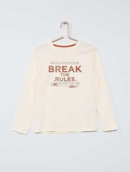 T-shirt eco-sostenibile stampata                                                                                                                                         BEIGE