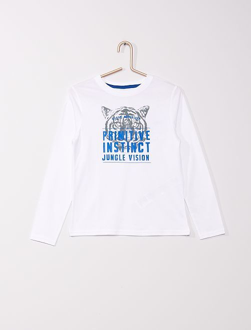 T-shirt eco-sostenibile stampata                                                                                                     BIANCO