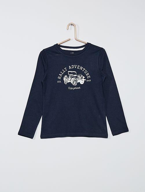 T-shirt eco-sostenibile stampata                                                                                                                                         BLU