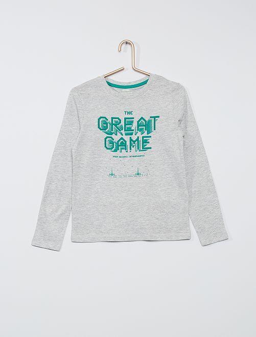 T-shirt eco-sostenibile stampata                                                                                                                                         GRIGIO