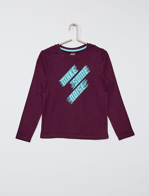 T-shirt eco-sostenibile stampata                                                                                                                                         VIOLA