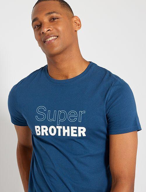 T-shirt eco-sostenibile 'Super Brother'                                                                                                                 BLU