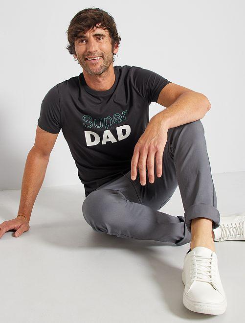 T-shirt eco-sostenibile 'Super Dad'                                                                                                                 NERO