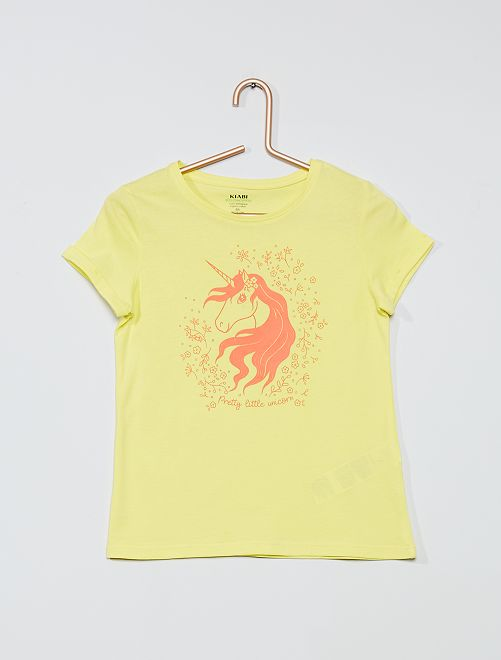 T-shirt eco-sostenibile 'unicorno'                                                                                                     GIALLO