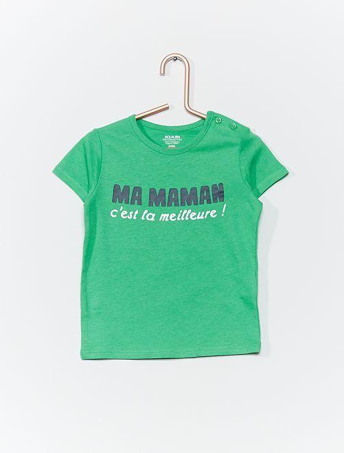 T-shirt 'eco-sostenibile'                                                         VERDE