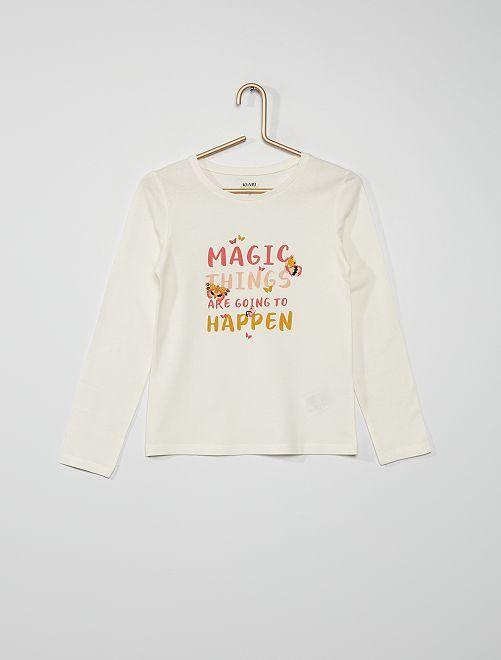 T-shirt 'farfalle'                                                                                                                             BIANCO