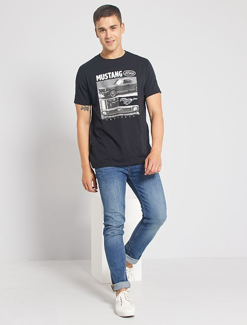 T-shirt 'Ford Mustang'                             nero