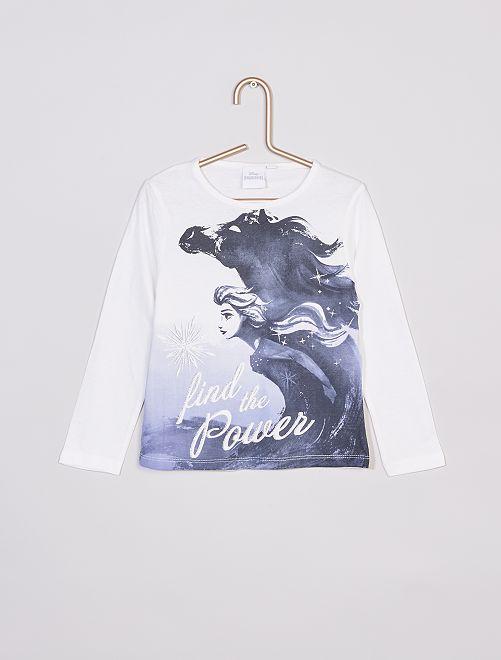 T-shirt 'Frozen' di 'Disney'                                                     bianco
