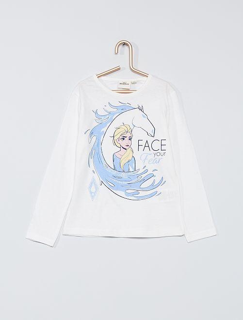 T-shirt 'Frozen'                                         ecru
