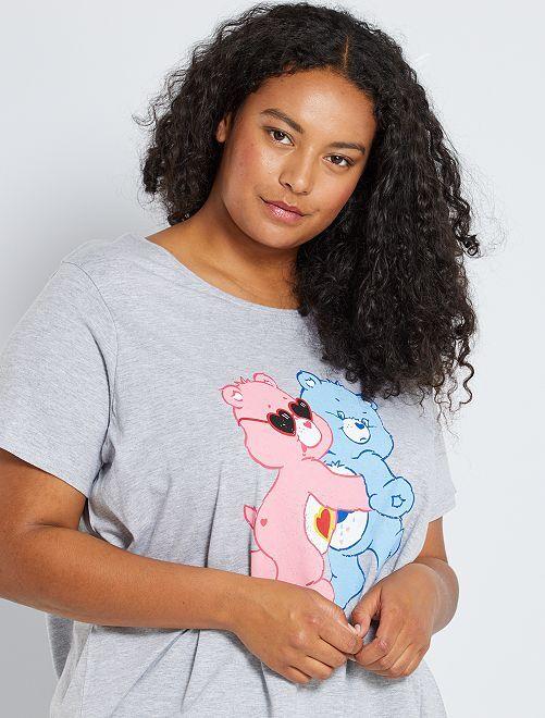 T-shirt 'Gli orsetti del cuore'                             GRIGIO