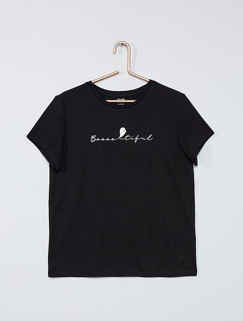 T-shirt 'Halloween'                             NERO